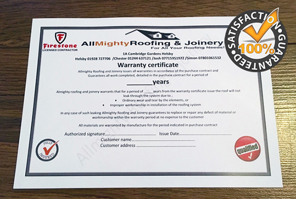 Allmighty Roofing Chester Guarantee Roofers Chester Allmighty Roofing Chester
