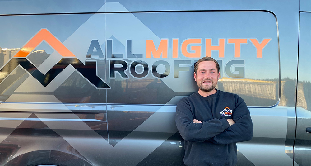 allmighty roofing josh with van